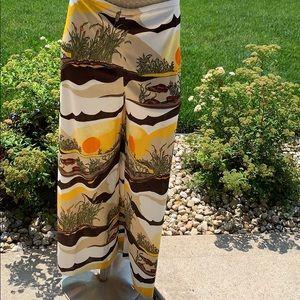 Vintage 70's wide leg print pant